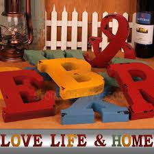 10x1 5cm thick wood wooden letters alphabet diy bridal online shop 6pcs door wedding decorations letters digital wooden