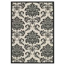 Capel Rugs Com Capel Rugs Pool And Patio Damask Black And White Indoor Outdoor
