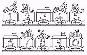 easy number coloring pages 1 10 coloring pages