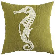 embroidered seahorse pillow pier 1 imports house pinterest
