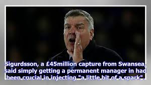 Everton Memes - gylfi sigurdsson explains how sam allardyce has had a positive