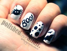 boo halloween inspired nails huda beauty makeup and beauty