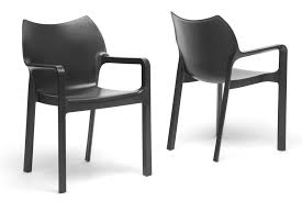 baxton studio limerick black plastic stackable modern dining chair