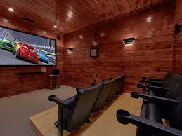 luxury 3 bedroom gatlinburg cabin with home vrbo cabin theater room
