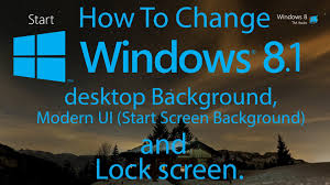 change windows 8 1 desktop background modern ui start