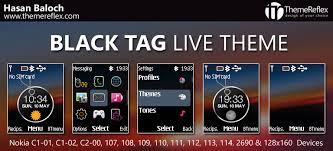 theme maker nokia 2690 black tag live theme for nokia c1 01 c1 02 c2 00 107 108 109