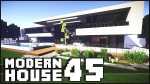 Modern House Minecraft Minecraft Modern House 45 Youtube