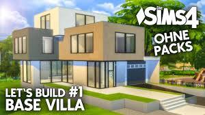 Haus U Die Sims 4 Haus Bauen Ohne Packs Base Villa 1 Grundriss