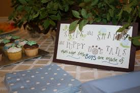 the parsonage family snips and snails and puppy dog tails baby shower