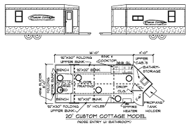 custom plans custom cottages inc mobile shelter design for fishing