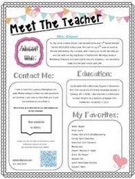 meet the teacher editable template for free https www