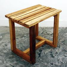 teak wood handmade teak finished spa stool thailand free