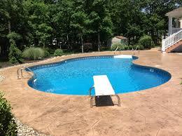 nj creative concrete stamped concrete pool deck colts neck nj