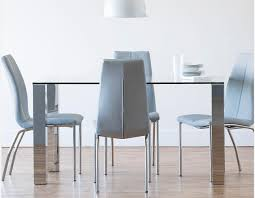 Stainless Steel Dining Table Macao Glass And Stainless Steel Dining Table Structube