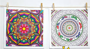 mandala coloring picture detailed picture zen
