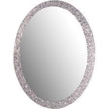 bathroom wall mirrors frameless decor ssm5016 4 luxor frameless oval wall mirror