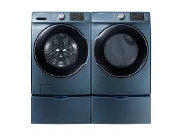Samsung Blue Washer And Dryer Pedestal Wf5500 4 5 Cu Ft Front Load Washer Washers Wf45m5500az A5