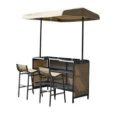 Patio Bar Tables Outsunny 3 Outdoor Mesh Cloth Canopy Bar Set