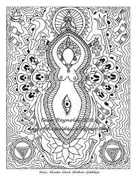 coloring page mandala coloring page goddess mandala