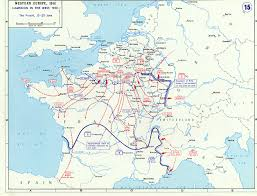France On A Map by Map Noting German Advances In France And The Low Countries Between