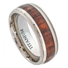 can titanium rings be engraved 8mm titanium ring personalized engraved hawaiian koa wood