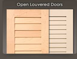 Louvered Cabinet Door Custom Louvered Doors Wood Shutters For Cabinets And Closets