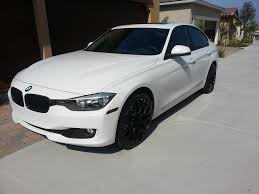 matte white bmw 328i m performance grille vs matte black grille
