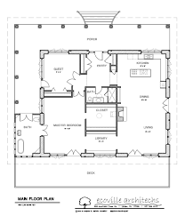 Floor Plan Of A Library by Architecture Wonderful Main Floor Plans Design With One Master
