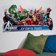 avengers assemble headboard name giant sticker great avengers assemble headboard name giant sticker