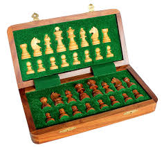 buy stonkraft collectible folding wooden chess game board set with