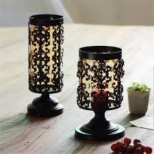 Mercury Glass Home Decor Mercury Glass Pillar Candle Holders Home Decorations