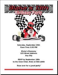 go kart racer birthday invitations ecards from print villa