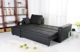Black Leather Sleeper Sofa Leather Sectional Sleeper Sofa With Chaise Foter