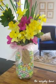 easter centerpiece jar easter centerpiece the everyday home