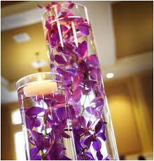 Cylinder Floating Candle Vase Set Of 3 Centerpieces