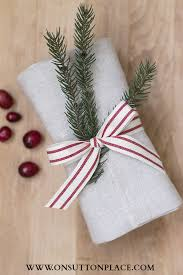 christmas hostess gifts hostess gift ideas homemade bread wrapped in a linen towel and