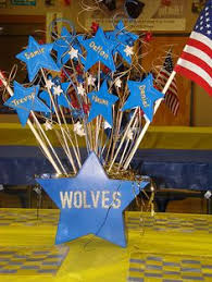 blue and gold decoration ideas daltonscouts 004 banquet centerpieces banquet and centerpieces