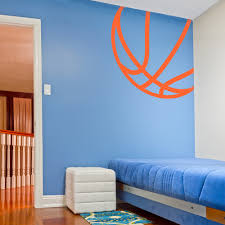 basketball lines wall decal basketball themed rooms themed corner basketball wall art decal