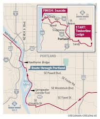 Map Of Seaside Oregon by Hood To Coast 2015 Takes Over Oregon Roadways Friday Saturday