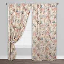Curtains World Market Multicolored Corinne Concealed Tab Top Curtains Set Of 2 World