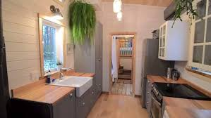 Impressive 380 Sq Ft Tiny Home Has Extra Tall Bedroom Built Over Tiny House Plans For A Gooseneck Trailer