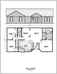 ranch house floor plans with 2 master suites home 4 bedroom 1600