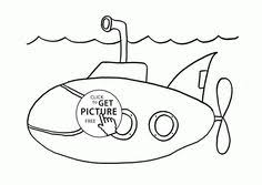 submarine coloring kids transportation coloring