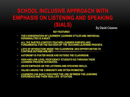 all inclusive approach with emphasis on listening and