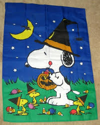 wondrous ideas snoopy garden flags impressive design halloween