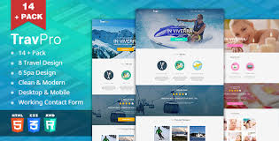 travel landing page templates from themeforest