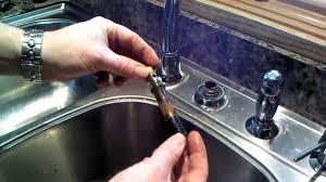 Moen Kitchen Faucet Instructions Moen Kitchen Faucet 1225 Cartridge Repair Or Replacement Youtube