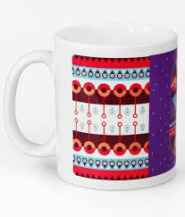 chumbak alphabet s purple and white coffee mug buy online at best