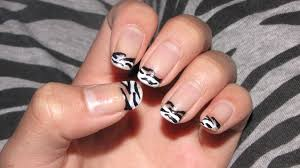 nail designs zebra tips nail art designs