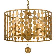 Gold Chandelier Light Crystorama Crystorama Layla 5 Light Antique Gold Chandelier
